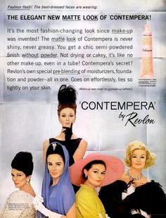 Revlon 'Contempora' Makeup Ad, 1962