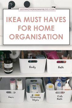 Cleaning Cupboard Organisation, Bathroom Closet Organization, Closet Organisation, Under Sink Organization, Organisation Ideas, Storage Ideas, Organizing, Under Bathroom Sinks, Bathroom Cupboards