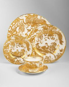 Royal Crown Derby gold china