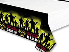 'Beware Zombies' Plastic Tablecover