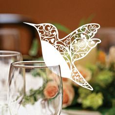 wine glass place card - Google Search