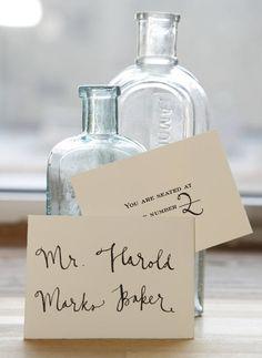 Pretty penmanship. Romantic Wedding Stationery, Wedding Stationary, Stationery Templates, Stationery Design, Wedding Paper, Wedding Fun, Fancy Fonts, Lettering, Typography