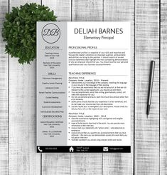 Resume & Cover Letter - Deliah  by Resume Template Shoppe on @creativemarket