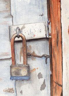 Garage Lock Number One Painting