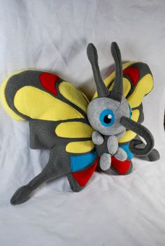 Beautifly Pokemon Plushie by heartlessofthecards on Etsy, $50.00