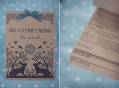 I like the simple assembly, and, of course, the smack-dab-on design : wedding invitation