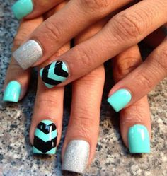 Turquoise Mani. #Nails #Beauty #Gifts #Holidays Visit Beauty.com for more.