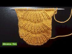Punto ABANICO. Clase de tejido con dos palitos (dos agujas) # 480 - YouTube