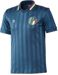 Adidas Men Originals Italy Retro World Cup Soccer X-Large Blue Football Fashion, Football Outfits, Football Uniforms, Adidas Football, Football Jerseys, Club Shirts, Team T Shirts, Sports Shirts, Classic Football Shirts
