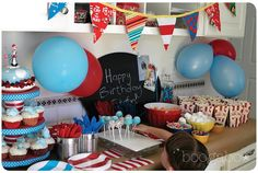 Cat in the hat. Great party Ideas!
