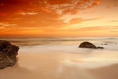 Golden Hour by Naomi Frost / Sunset at Newcastle Beach.
