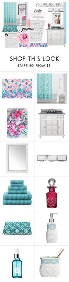 """""""Bathroom Beauty"""" by maggiecakes ❤ liked on Polyvore featuring interior, interiors, interior design, home, home decor, interior decorating, PBteen, NOVICA, Avanity and Universal Lighting and Decor"""