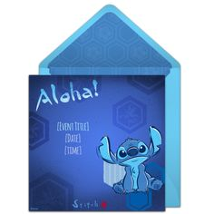 Free Lilo & Stitch invitation | The Disney Online Invitation Collection. Perfect for a Lilo & Stitch birthday party or luau!