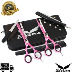 Electra Professional Hairdressing Barber Scissors Thinning Shears +Case for sale online Thin Hair Cuts, Scissors, Hairdresser, Barber, Best Deals, Thin Hair Haircuts, Bicycle Kick, Barbershop