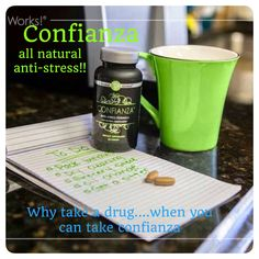 Confianza. We all stress both physically and mentally. Relieve that stress with ease! This is my chill pill!