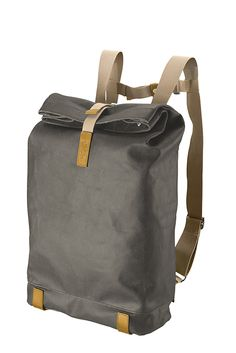 PICKWICK Backpack mud grey front Brooks England Bags for Spring 2013