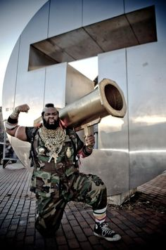 Mr. T/B. A. Baracus, cosplayed by Macdaniel Macleod