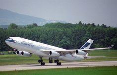 Cathay Pacific Airbus A340-211 VR-HMT at Zürich-Kloten, May 1995. (Photo: Aero Icarus)
