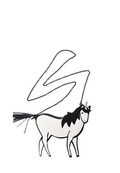 UNICORN POUCH in IVORY by Alice + Olivia