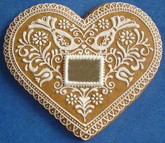mézeskalács szív -tükörrel