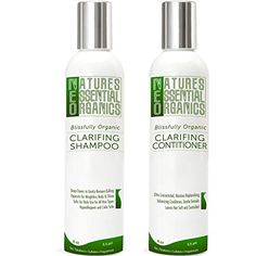 Shampoo Conditioner Set - USA Made Organic Hair Products. Clarifying, Daily Hair Moisturizer. Sulfate Free. Safe and Gentle on Colored or Treated Hair for Women and Men. Concentrated 8oz. - http://essential-organic.com/shampoo-conditioner-set-usa-made-organic-hair-products-clarifying-daily-hair-moisturizer-sulfate-free-safe-and-gentle-on-colored-or-treated-hair-for-women-and-men-concentrated-8oz/