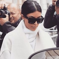 Kim Kardashian wearing Celine ZZ Top 41756 Sunglasses