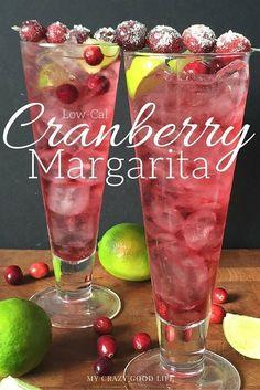 Low-Cal Cranberry Margarita recipe (21 Day Fix friendly!)