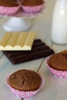 Queques com dois chocolates