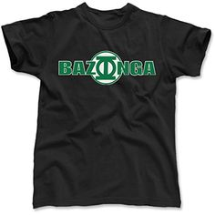 Bazinga Green Lantern Big Bang Theory Sheldon Cooper Mens T-Shirt Black Medium @ niftywarehouse.com