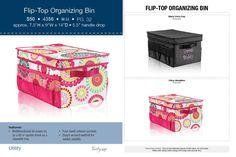 The Flip-Top Organizing Bin is back this Fall! http://www.mythirtyone.com/JenWillett