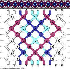 friendship bracelet patterns - 10 strings 8 rows 5 colors