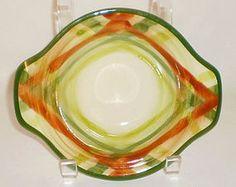 """Vernon Kilns (Vernonware) """"Tam O'shanter"""", lug-handled chowder bowls."""
