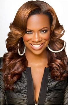 PURCHASE OUR VIRIGN BRAZILIAN BODY WAVY TODAY AND HAVE IT COLORED TO A SIMILAR GORGEOUS CHOCOLATE HUE AS KANDI BURRUSS IS PICTURED HERE!  Visit Karaezy Kouture Import Hair Extensions. CLICK THIS PIN POST!