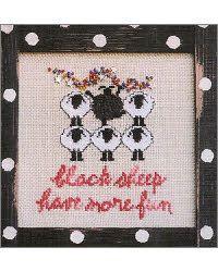 Black Sheep cross stitch