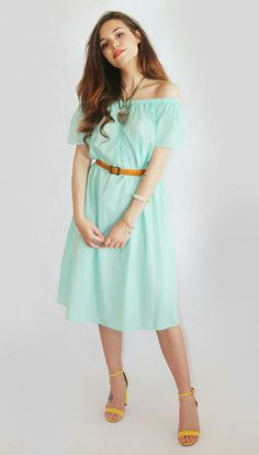 Marzia Bisognin Summer | turqoise dress | necklace | belt