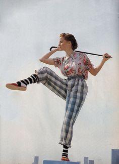 """Les Melanges Impossibles"", ELLE France, July 1988Photographer: Friedmann HaussModel: Alison Cohen"