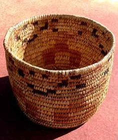 Beautiful Sioux Indian basket; tightly woven basket has been in a private collection many generations, excellent condition; basket base is covered with buffalo hide. Description from forttumbleweed.org. I searched for this on bing.com/images