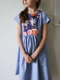 Oliver + S Hide-and-Seek Dress with hand quilted yoke
