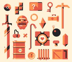 Video Game Symbols, Game Icon, Easter Eggs, Advent Calendar, Sci Fi, Nerd, Doodles, Objects, Kids Rugs