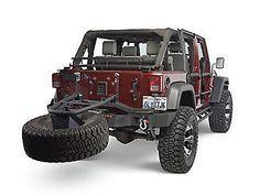 Olympic 4x4 Rear Smuggler Winch Bumper w/Tire Carrier, Rubicon Black 5560-174 (07-14 Wrangler JK) - Free Shipping