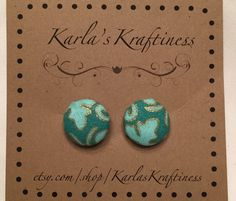 Hey, I found this really awesome Etsy listing at https://www.etsy.com/listing/221111913/greenturquoise-button-earrings-fabric