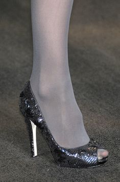 Badgley Mischka at New York Fall 2010 (Details) Tights And Heels, Nylons And Pantyhose, Stockings Heels, Nylons Heels, Sexy Legs And Heels, Hot Heels, Sexy High Heels, Stiletto Heels, Stockings Lingerie