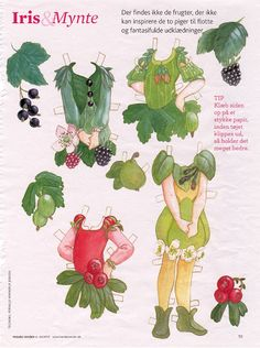 woodland fairy paper doll