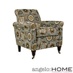 @Overstock - angelo:HOME Harlow Vintage Tapestry Blue Chair. The angelo:HOME Harlow accent chair was designed by Angelo Surmelis. The Harlow chair has a slightly rounded arm and is covered in a vintage tapestry design on a glacier blue background.http://www.overstock.com/Home-Garden/angelo-HOME-Harlow-Vintage-Tapestry-Blue-Chair/6549110/product.html?CID=214117 $284.99