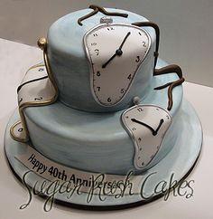 So cool! - Salvador Dali Clocks Cake