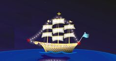 In many parts of Greece the quintessential symbol of #Christmas is a brightly decorated boat. This tradition initially appeared along the coast of Greece, where seamen came back to their families for Christmas after long periods of time and their children would decorate the boats as a welcoming to their fathers! #Greece #Traditions #Trivia #TrueGreece