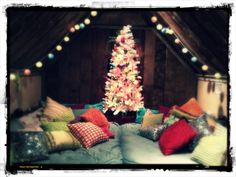 The bunk room at Christmas