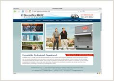 Web site design © Think Baseline, for Diversified HVAC Services Inc (HVAC-R Services) #web design #graphic design http://www.diversifiedhvac.com/