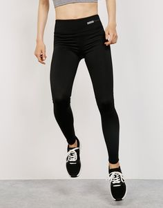 Legging técnico sport costura contraste - Sport Start Moving - Bershka España
