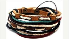 Jewelry bangle leather bracelet woven by braceletbanglecase, $8.50